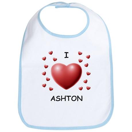 I Love Ashton - Bib