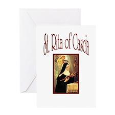 St. Rita of Casica Greeting Card