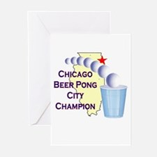 Chicago Beer Pong City Champi Greeting Cards (Pk o