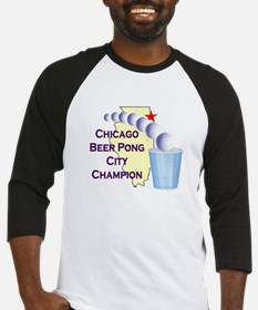 Chicago Beer Pong City Champi Baseball Jersey