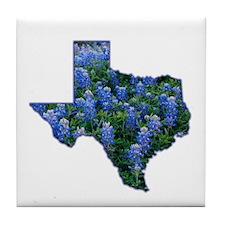 TX Bluebonnets Tile Coaster