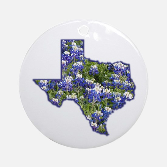 TX Bluebonnets Ornament (Round)
