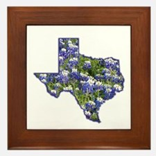 TX Bluebonnets Framed Tile