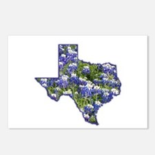 TX Bluebonnets Postcards (Package of 8)