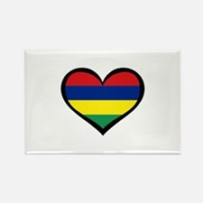 Mauritius Love Rectangle Magnet