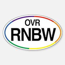 Rainbow Goodies Oval Decal