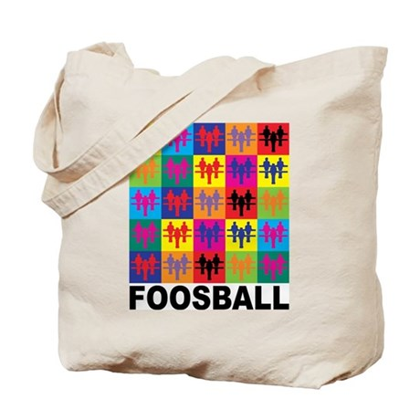 Pop Art Foosball Tote Bag