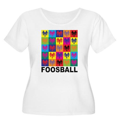 Pop Art Foosball Women's Plus Size Scoop Neck T-Sh