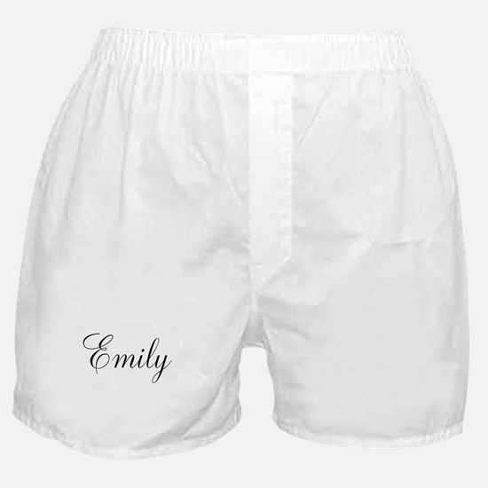 Personalized Black Script Boxer Shorts