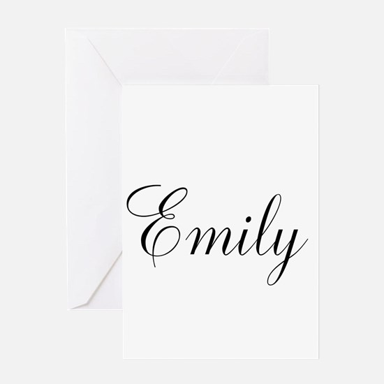 Personalized Black Script Greeting Cards