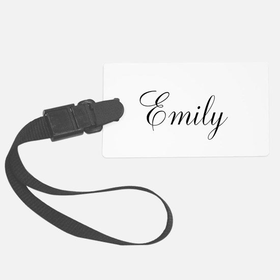 Personalized Black Script Luggage Tag