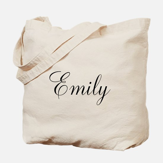 Personalized Black Script Tote Bag