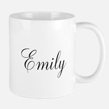 Personalized Black Script Mugs