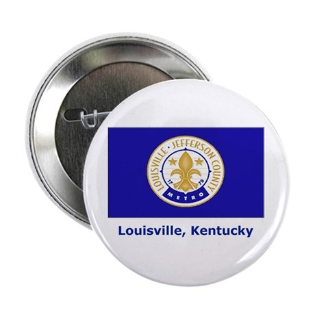 """Louisville KY Flag 2.25"""" Button (10 pack)"""