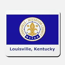 Louisville KY Flag Mousepad
