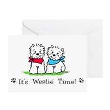 Westie drawings Greeting Card
