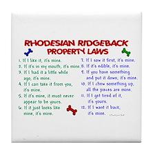 Rhodesian Ridgeback Property Laws 2 Tile Coaster
