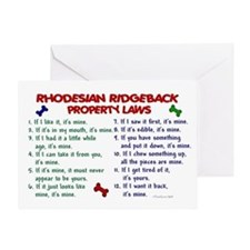 Rhodesian Ridgeback Property Laws 2 Greeting Card