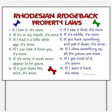 Rhodesian Ridgeback Property Laws 2 Yard Sign
