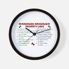 Rhodesian Ridgeback Property Laws 2 Wall Clock