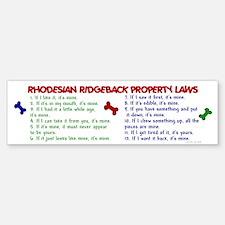 Rhodesian Ridgeback Property Laws 2 Bumper Bumper Sticker