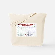 Rhodesian Ridgeback Property Laws 2 Tote Bag