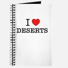 I Love DESERTS Journal