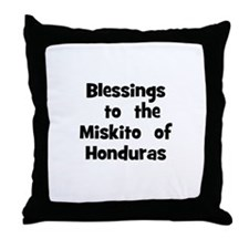 Blessings  to  the  Miskito   Throw Pillow