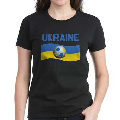 TEAM UKRAINE WORLD CUP Women's Dark T-Shirt