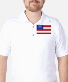 Cropped Flag USA Independence Day T-Shirt