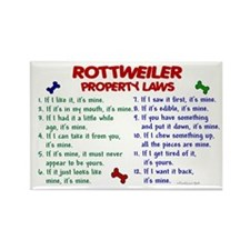 Rottweiler Property Laws 2 Rectangle Magnet (10 pa