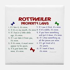 Rottweiler Property Laws 2 Tile Coaster