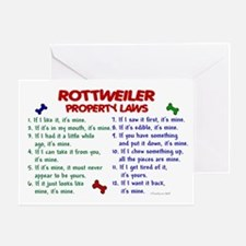 Rottweiler Property Laws 2 Greeting Card
