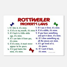 Rottweiler Property Laws 2 Postcards (Package of 8