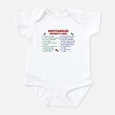 Rottweiler Property Laws 2 Infant Bodysuit