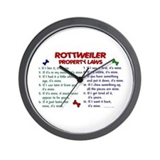 Rottweiler Property Laws 2 Wall Clock