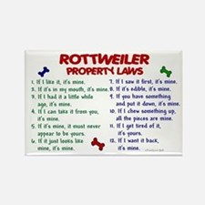 Rottweiler Property Laws 2 Rectangle Magnet