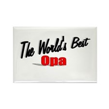 """The World's Best Opa"" Rectangle Magnet"