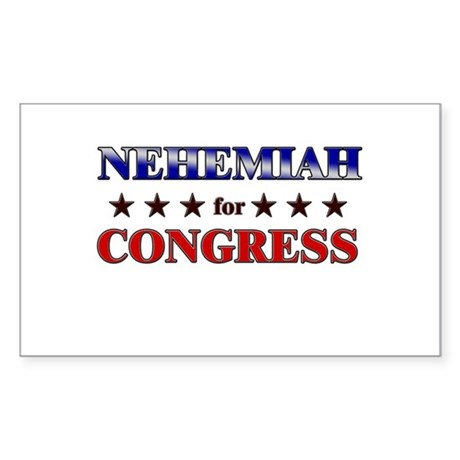 NEHEMIAH for congress Rectangle Sticker
