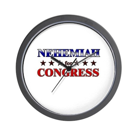 NEHEMIAH for congress Wall Clock
