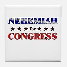 NEHEMIAH for congress Tile Coaster