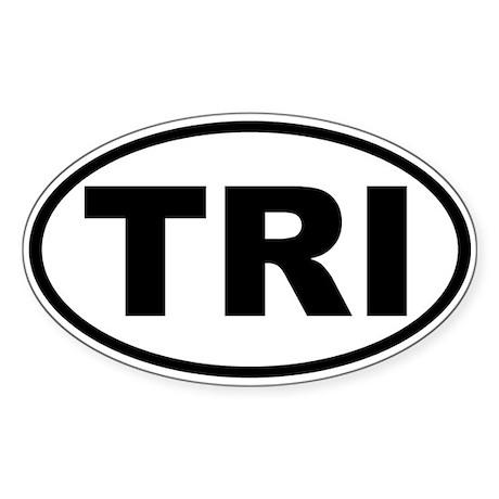 Triathlon TRI Oval Euro Sticker