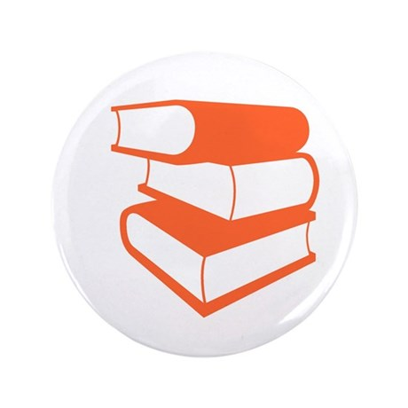 """Stack Of Orange Books 3.5"""" Button (100 pack)"""