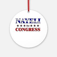 NAYELI for congress Ornament (Round)