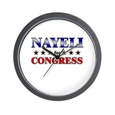 NAYELI for congress Wall Clock