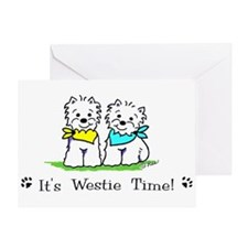 Unique Westie drawings Greeting Card