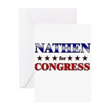 NATHEN for congress Greeting Card