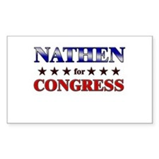 NATHEN for congress Rectangle Decal