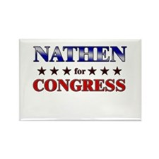 NATHEN for congress Rectangle Magnet