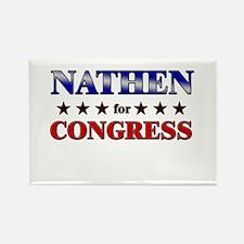 NATHEN for congress Rectangle Magnet